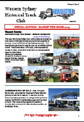 2013 HAULIN' THE HUME NEWSLETTER - Part A